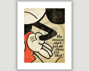 Don't Copy The Mouse, copyright infringement, satire, funny art print, copyright law, digital illustration, copyright humor