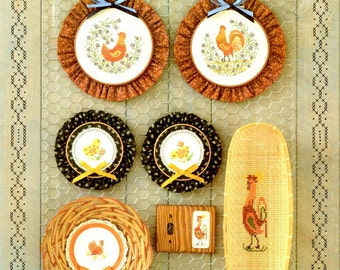 Chicken Stitching Counted Cross Stitch Embroidery Hen Rooster Chick Craft Pattern Leaflet