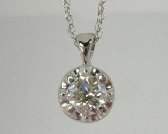 Old European Cut Diamond Pendant – New Condition – 0.38 Carat Old European Cut Diamond