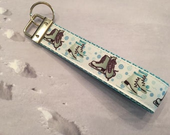 Ice Skates Key Fob / Key Wristlet