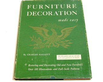 Furniture Decoration Made Easy By Charles Hallett, Vintage Book