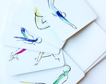 5 Pilates Notecards | Pilates Gift, Unique Gifts, Inspiration Art, Pilates Inspiration