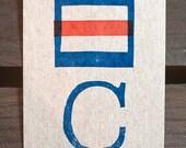 C - Signal Flag Postcard