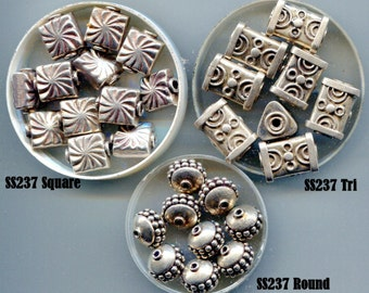 Bali Sterling Beads Many Designs B5034.SS237*