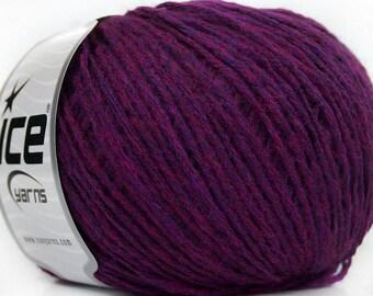 Destash yarn, Knitting  yarn, dark fuchsia yarn, DK, light worsted weight, Y105