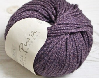 Knitting  yarn, Destash yarn, purple yarn, Aran weight, Y160