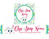 Etsy Shop Banners - Etsy Banners - Easter Etsy Banners - Bunny Etsy Banner - Easter 4-16 - 2 Piece Set