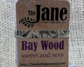 Small Bay Wood Sea Salt Soap - Bay and Cedarwood Essential Oil Sea Salt Soap - Handcrafted Hot Process Soap