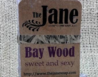Small Bay Wood Sea Salt Soap - Bay and Cedarwood Essential Oil Sea Salt Soap - Handcrafted Hot Process Soap
