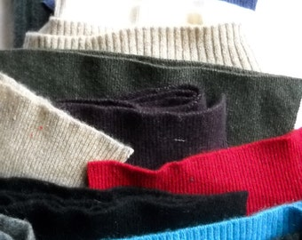 Cashmere Sweater Fabrics, Repurposed Sweaters, Lovely Colors, Ribbing, Great for Crafting