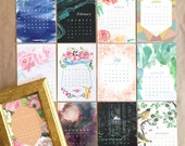 2017 Desk Calendar + Frame or Midori Clip - desktop calendar - Assorted Designs