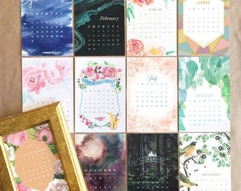2017 Desk Calendar + Frame or Midori Clip - desktop calendar - Assorted Designs