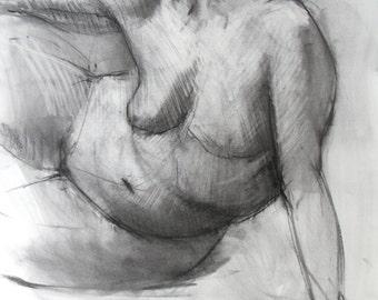 Gesture Drawing - original drawing  (FD 97)
