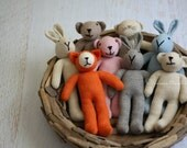 New Friends. Ready to Ship Knitted Alpaca Toys. Photo Props. Knit Toys. Knit Fox, Bunny and Bear