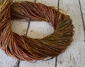 NEW - Hand Dyed LEAF PILE cord, 6 yards