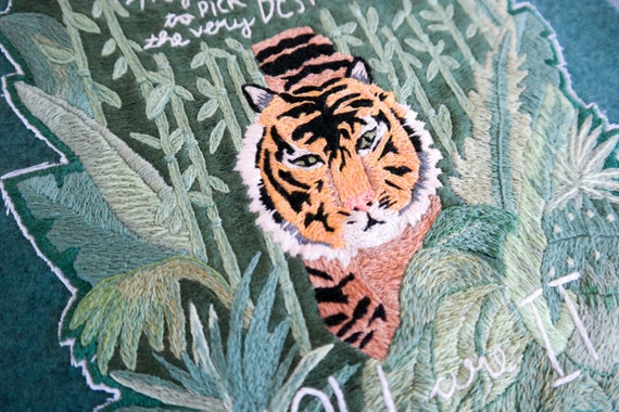 You Are It Tiger Embroidered Wall Hanging