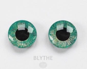 BLYTHE - ooak hand painted blythe eye chips, unique - by KarolinFelix - no 29