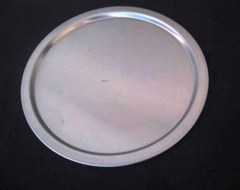 Knoll Extra Stelton Stainless Steel serving tray, round platter, 1960s 1970s, TheRetroLife