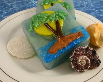 Soap - Tropical Paradise Soap - Beach Soap - Summer Soap - Party Favor - Handmade - SoapGarden