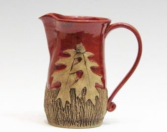 Red Creamer/Small Pitcher/Stoneware Creamer