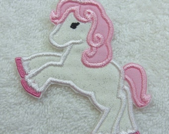 Unicorn Fabric Embroidered Iron On Applique Patch Ready to Ship