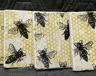 Bumble Bee Coasters