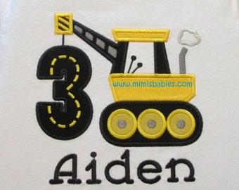 Construction Crane Birthday Shirt, Construction Site Birthday Shirt, Crane Birthday Shirt