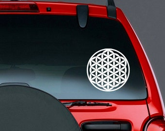 Flower of Life Sacred Geometry Symbol Vinyl CAR DECAL New Age Sticker