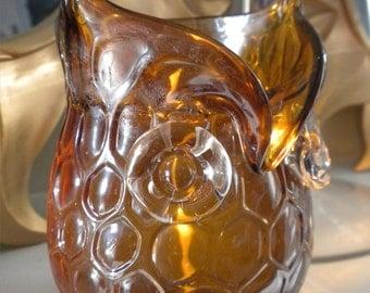Golden Hooty Owl Gel Candle