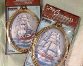 Pair Little Charmers Paragon Creative Stitchery Clipper Ships Kits
