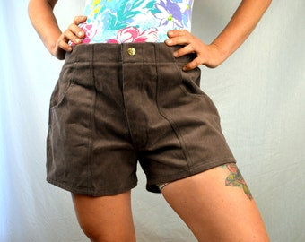 Vintage 80s Brown Board Shorts - by Weeds - Size 36