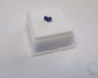 Oval Tanzanite Gemstone .60 ct Minimum 7 x 5mm JTV w/ Invoice