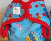 Preemie Newborn PUL Diaper Cover with Leg Gussets- 4 to 9 pounds- Winnie the Pooh- 20025