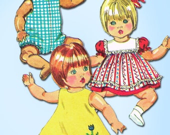 1970s Vintage Simplicity Sewing Pattern 5947 12 Inch Vinyl Baby Doll Clothes