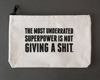 superpower zipper pouch. #086