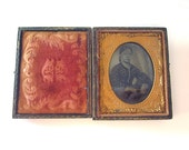 Antique Daguerreotype with Full Case Sixth Plate 1800's Young Woman Tintype