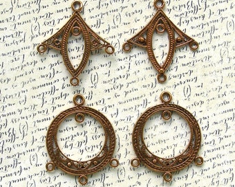 Copper Chandelier Earring Finding for Beading 60% off, 2 pair