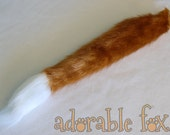 Golden Faux Fur Fox Tail for Cosplay / Furry / Costume