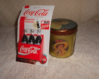 COKA COLA Magnets Coke Tin Container