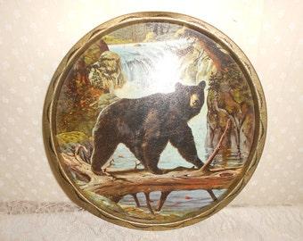 Black Bear Tray  by James L. Artig, Woodland Creature, Serving Tray, Decorative