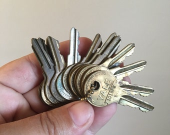 Vintage Collection of YALE Keys.
