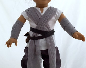 Star Wars The Force Awakens, Rey inspired costume that fits American Girl Dolls