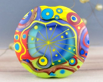 Modern Art Glass - 1 focal bead by Michou P. Anderson