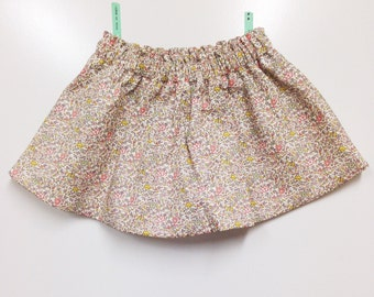 LAST ONE. Baby girl Katie + Millie skirt. Size 3/6 months. Liberty Art fabric tana lawn.
