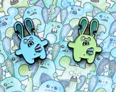Enamel Pin Badge – Zombie Bunny Horde Enamel Pin