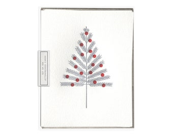 Aluminum Tree letterpress card - set of six