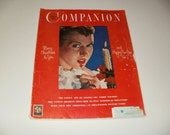 Womans Home Companion Magazine December 1950, Christmas Cover, Vintage Ads, Paper Ephemera, Retro, Collectible