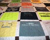 """Reserved for bpeeps37 - Custom T-Shirt Quilt Twin Size 64"""" x 87"""" (20 T-Shirts) - BALANCE LISTING (50%)"""