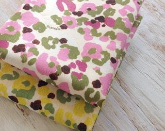 Pink Camouflage- Linen-Cotton Canvas fabric - fat quarter