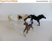 ON SALE Vintage Horse - PlaySkool - Play School - Rubber Horse - Toy - Kids toy - 1990